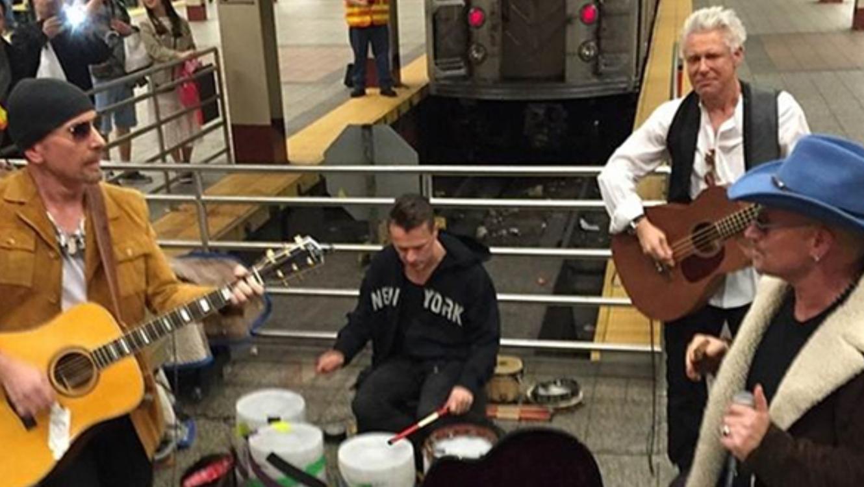 U2 sorprendió con un show improvisado en la estación Grand Central de Nueva York