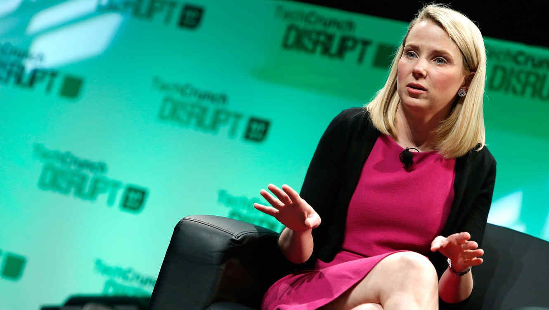 Marissa Mayer, CEO de Yahoo en conferencia de TechCrunch en 2014