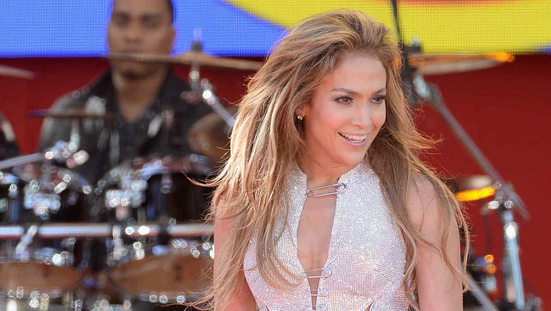 Jennifer Lopez en su presentación en Good Morning America en el 2014