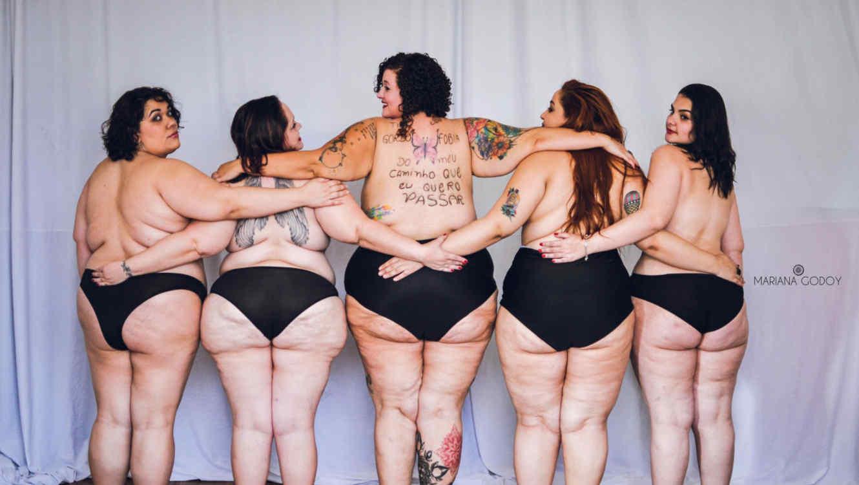 """Modelos de espalda en la serie de fotos """"Empoderarte me"""""""