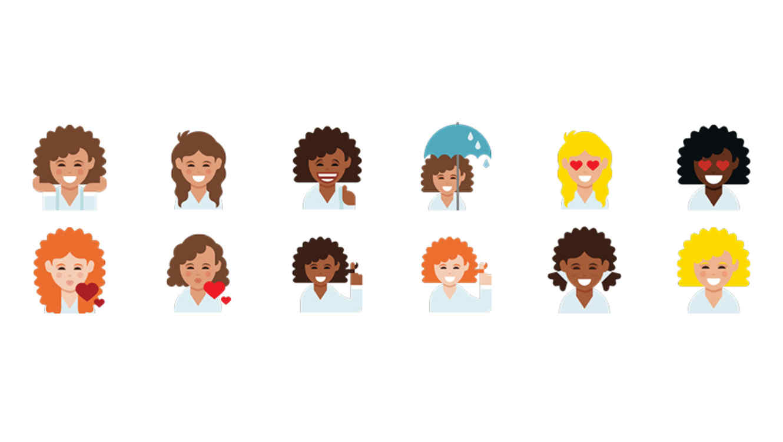 Emojis Pelo Rizado
