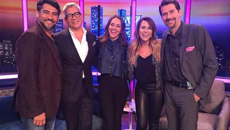 Gabriel Porrás, Boris Izaguirre, María Elisa Camargo, Erika de la Vega y Eduardo Videgaray