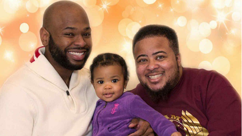kayden coleman con su esposo e hija