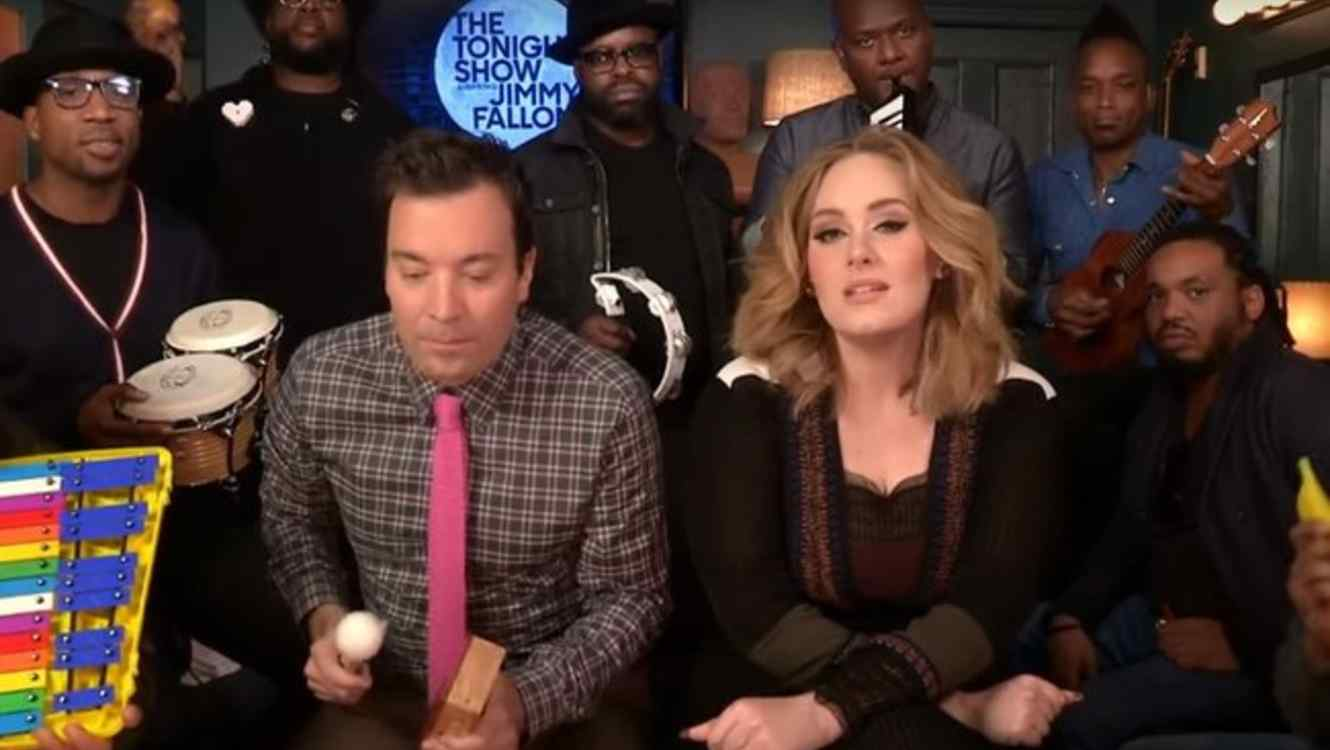 "Adele, Jimmy Fallon y The Roots en ""The Tonight Show"""