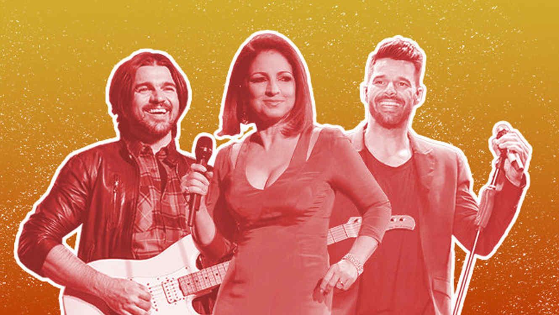 Juanes, Gloria Estefan y Ricky Martin