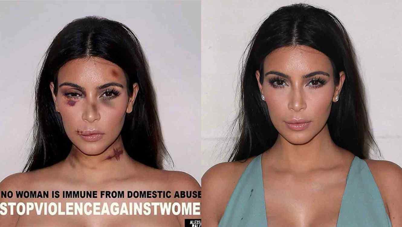 Kim Kardashian maltratada