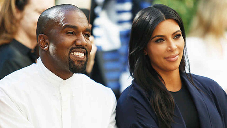 Kanye West y Kim Kardashian en Chateau Marmont el 20 de octubre de 2015 en Los Angeles.