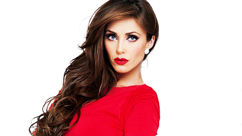 Anahí vestido rojo