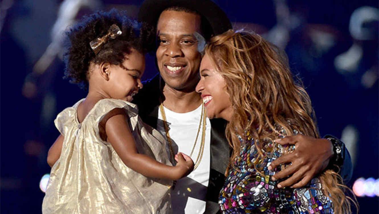 Blue Ivy, Jay Z y Beyoncé en los 2014 MTV VMAs