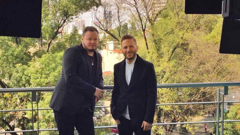 Noel Schajris y Leonel García en una foto promocional en México