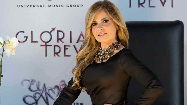 Gloria Trevi en la rueda de prensa de 'El Amor World Tour 2016' en México