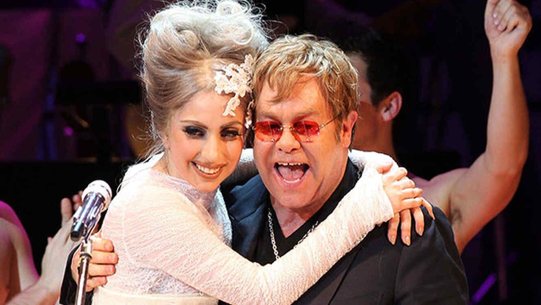 Lady Gaga y Elton John en New York