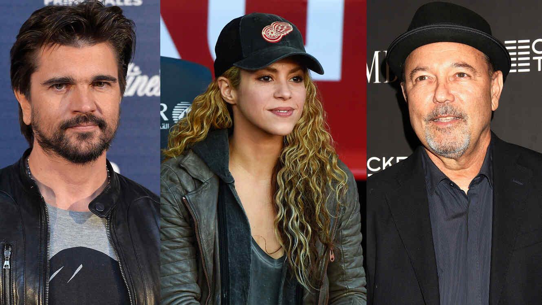 Juanes, Shakira y Rúben Blades