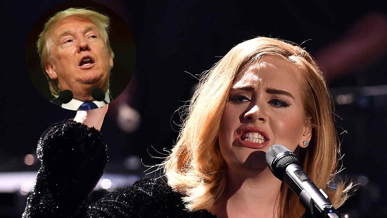 Adele y Donald Trump en evento en 2015
