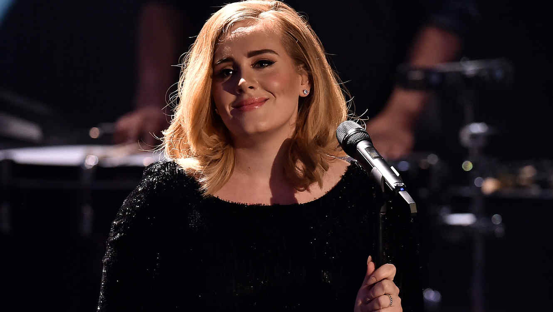 Adele en concierto de Nueva York en 2015