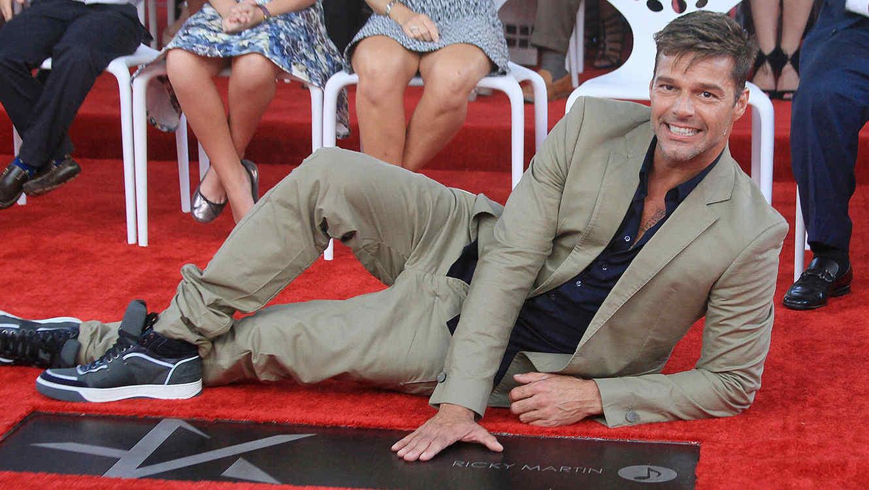 Ricky Martin en el paseo de la fama en Puerto Rico