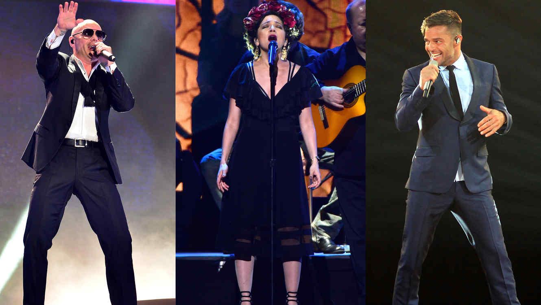 Pitbull, Natalia Lafourcade y Ricky Martin