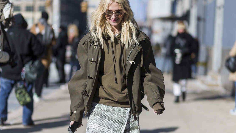 Zanna Roberts Rassi en la semana de la moda de Nueva York