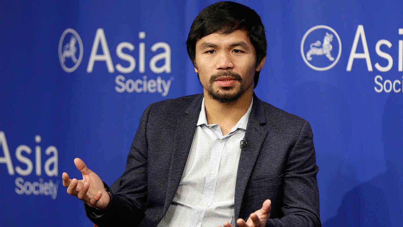 Manny Pacquiao en Asia Society, Nueva York