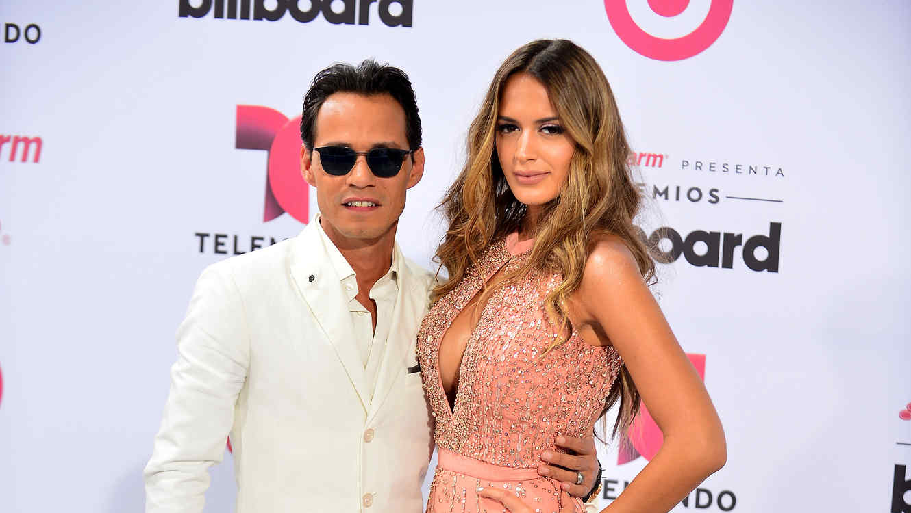 Marc Anthony y Shannon de Lima en los Billboards 2015