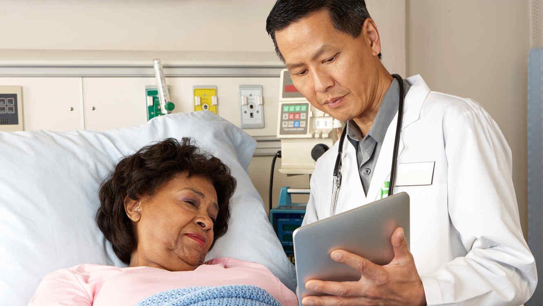 Doctor y paciente