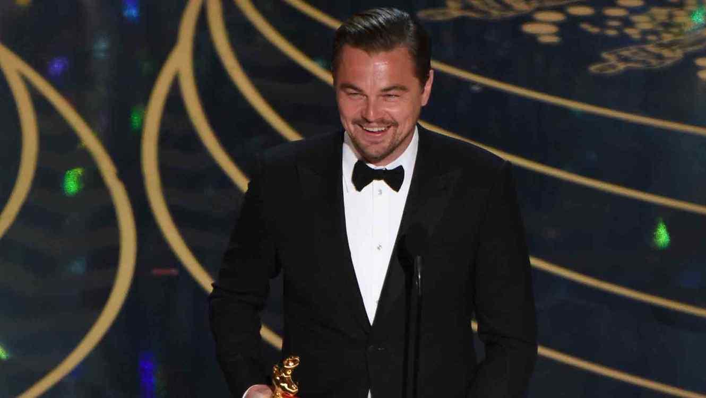 Leonardo DiCaprio en los Oscars 2016