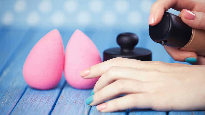 Beauty blenders en set de maquillaje