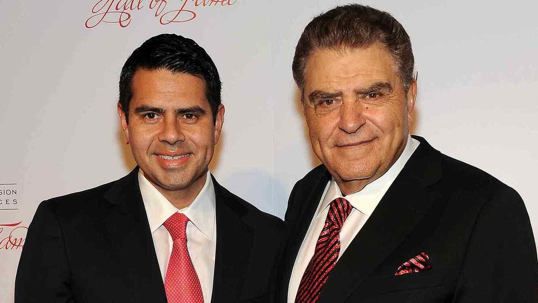 Cesar Conde y Don Francisco en The Academy of Television Arts & Sciences