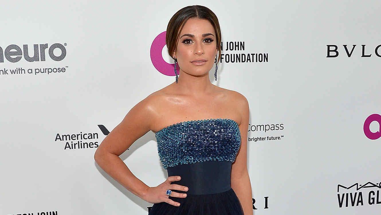 Lea Michele en la fiesta de la fundación de Elton John