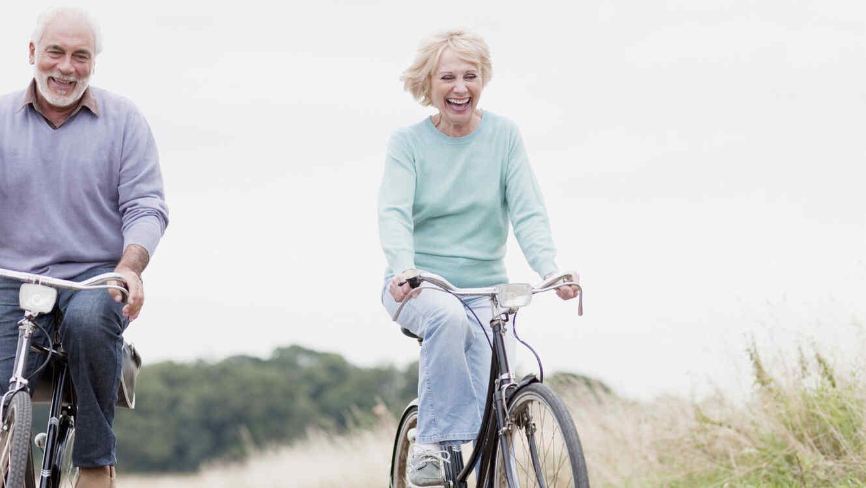 Jubilados en bicicleta