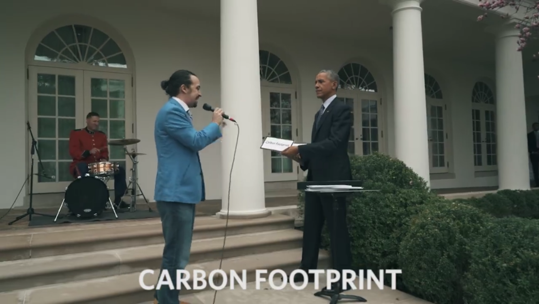 Presidente Barack Obama y Lin-Manuel Miranda en la Casa Blanca