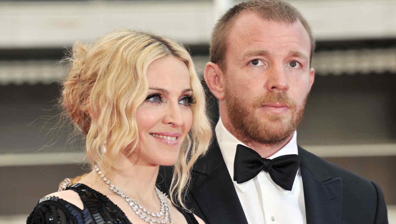 Madonna y Guy Ritchie en el festival de Cannes en 2008