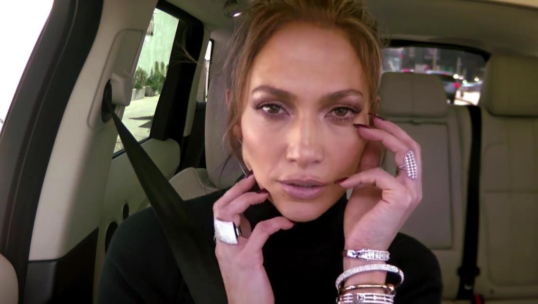 Jennifer Lopez en el carpool karaoke de James Corden
