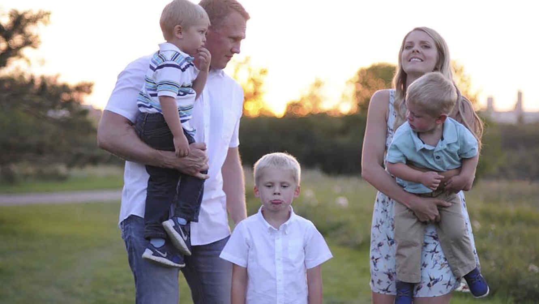 Jennifer Campbell y familia