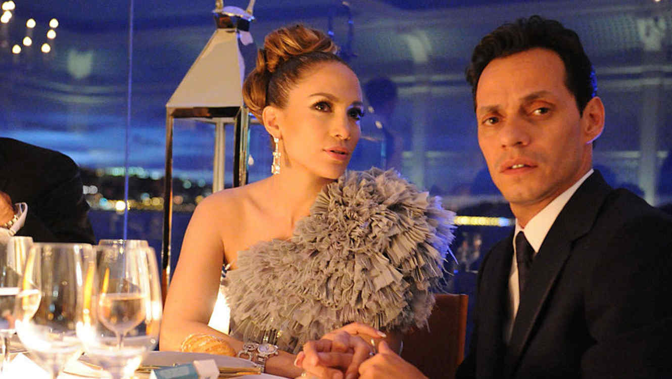 Jennifer Lopez y Marc Anthony en la fiesta de Vanity Fair del  Cannes Film Festival