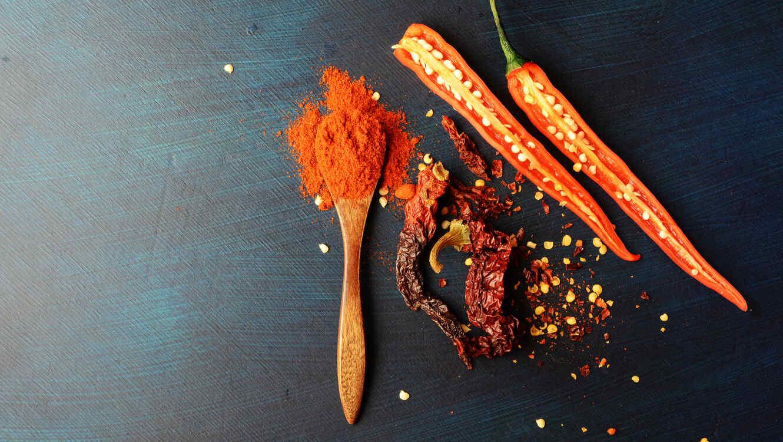Chile y condimentos picantes
