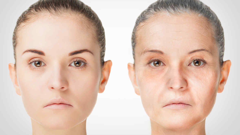 Mujer joven y mayor