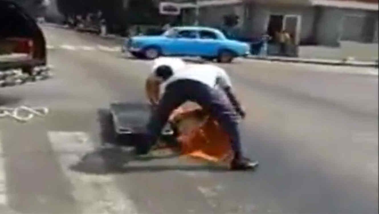 muerto en plena calle en cuba