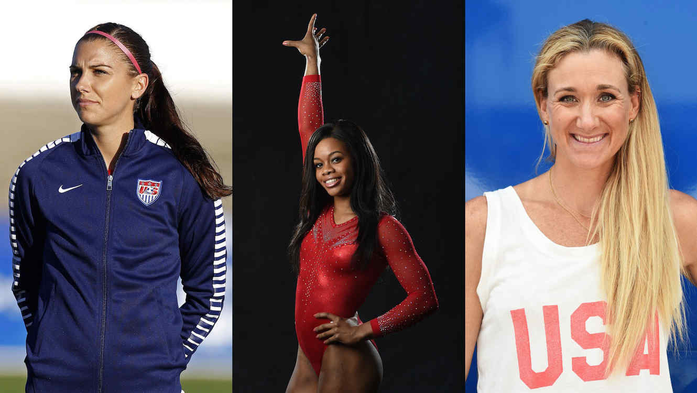 Tres atletas olímpicas