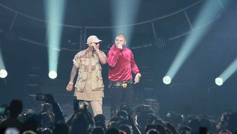 Daddy Yankee y Farruko comparten el escenario durante el Visionary World Tour en Puerto Rico