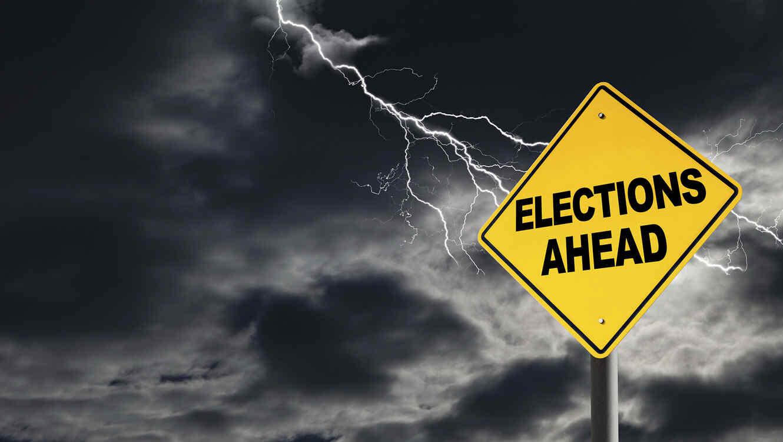 Cartel sobre las elecciones