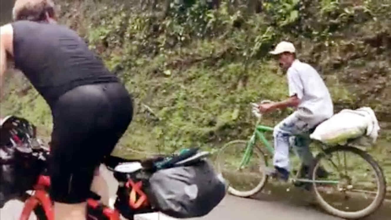 Luis, el campesino Colombiano con atletas europeos