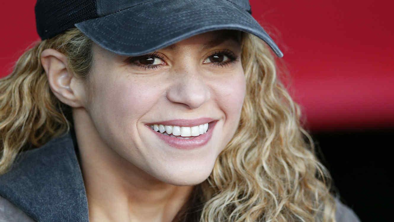 Shakira apoyando a Gerard Piqué en la liga española 2015