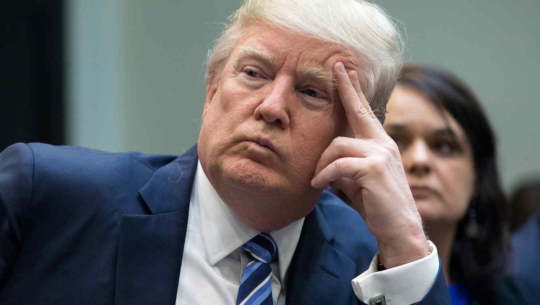 El presidente Donald Trump en una reunión sobre el plan de salud en la Casa Blanca el 13 de Marzo del 2017