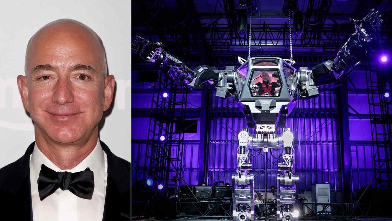 Ceo De Amazon Demuestra Su Poder Piloteando Un Robot De 13 Pies De
