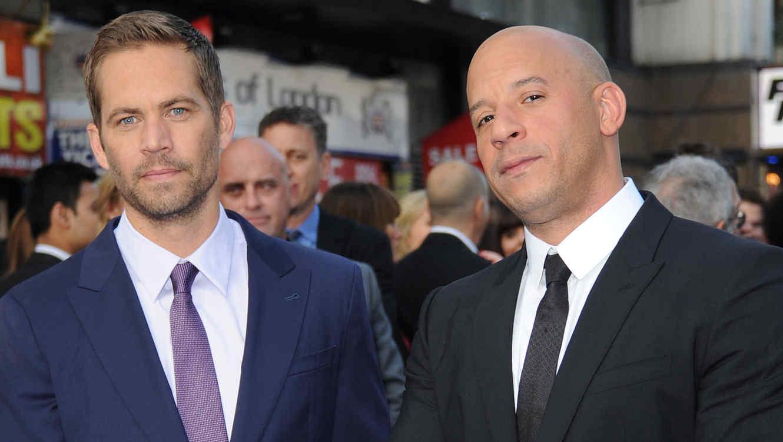 Vin Diesel y Paul Walker en la premier de