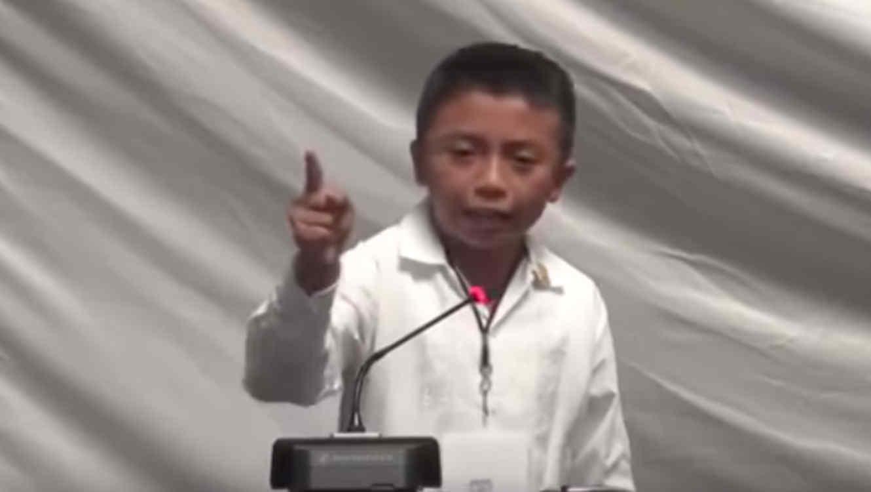 Ángel Jacinto Noh Tun, el niño mexicano que reprochó a los diputados del suroriental estado de Quintana Roo su inacción frente la corrupción