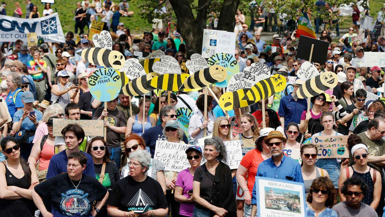 Manifestación en Boston contra las políticas del presidente Trump