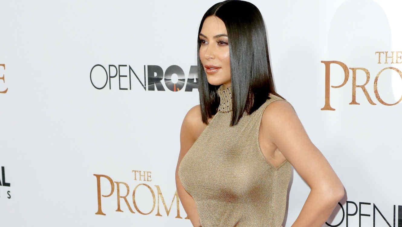 """Kim Kardashian en la premiere de """"The Promise"""""""