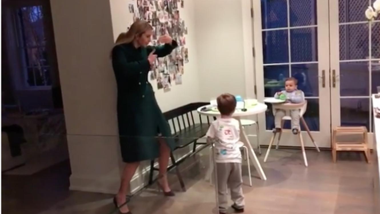El video viral que muestra a Ivanka Trump bailando con sus hijos